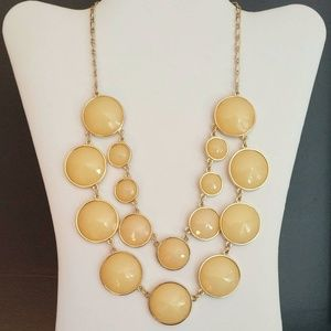 Pale apricot beaded necklace